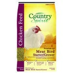 Country Spirit Chicken Feed Non-Medicated Meat Bird Starter Crumble 24% Protein 40 lb. Bag