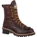 Georgia Boot® Logger Work Boot Men's Sizes 9-13 Chocolate Brown