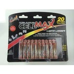 Cell Max® Alkaline Battery AA 20 Pack