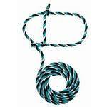 Weaver Cow Rope Halter Teal/Black/Gray Poly