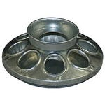 Poultry Feeder Base 1 qt. Galvanized