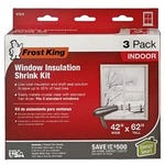 Window Shrink Insulation Kit 42 in. x 62 in. 3 Pack Plastic